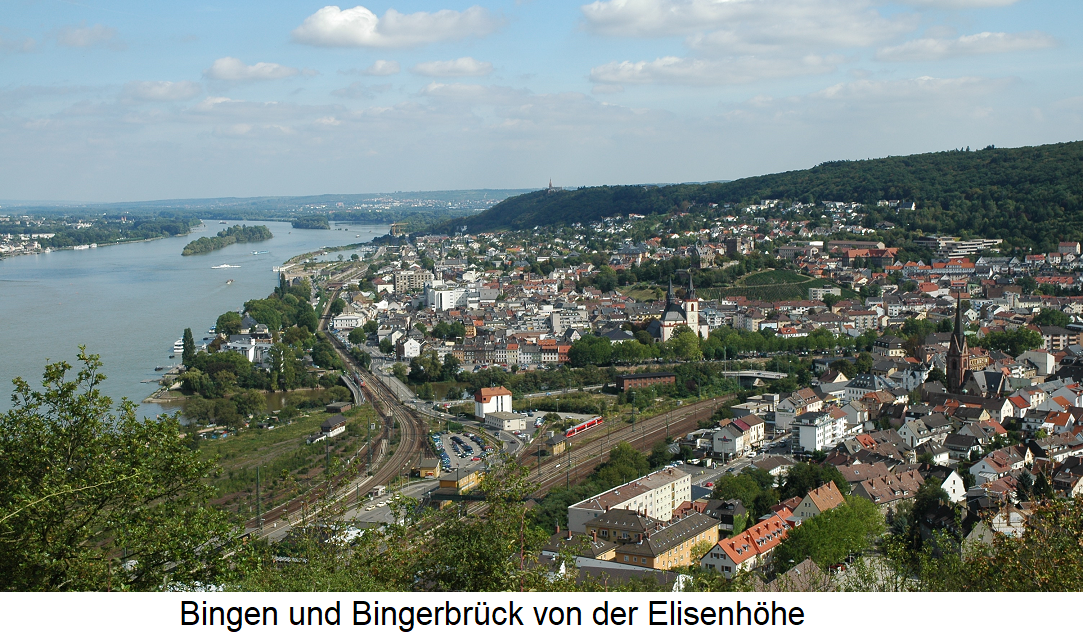 Bingen and Bingerbrück from the Elisenhöhe